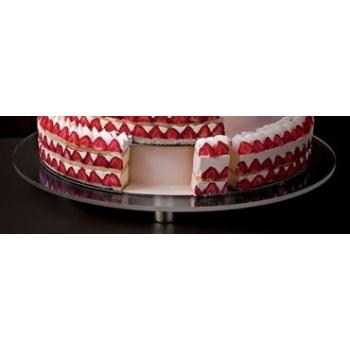 "Matfer Bourgeat Round Plexiglass Stand For Wedding Cake Ø: 26 3/4"""