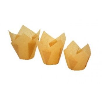 Tulip Disposable Baking Cup Large Muffins - Natural -  2''x 3 1/2 '' - 2000pcs