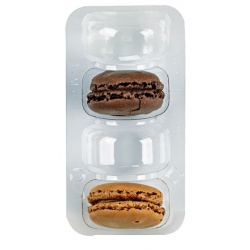 Insert 4 Macarons (1x4) with Clip Closure - 250pcs