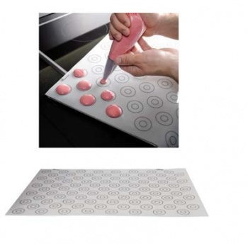 De Buyer Nonstick Silicone Macarons mat with  88 marks - 60cm X 40cm