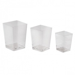 Small Square Disposable Verrine Containers - 5.1 oz. -2.125'' x2.125'' x 3.125''- 100pcs