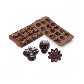 Silikomart Silicone Chocolate Mold Springlife - 36x26 h 15 mm