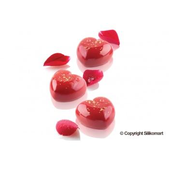 Silikomart Professional CUPIDO 30 Silicone Heart Mold - 45X440 H 24 mm - 15 cavity