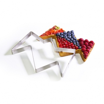 De Buyer Stainless Steel Perforated Tart Ring - Christophe Renou - 4 parts