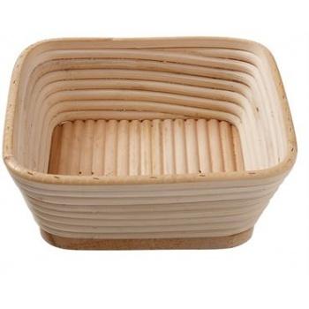 Matfer Bourgeat Banneton Willow Basket Square 8 3/4''x 8 3/4'' - 2Lbs