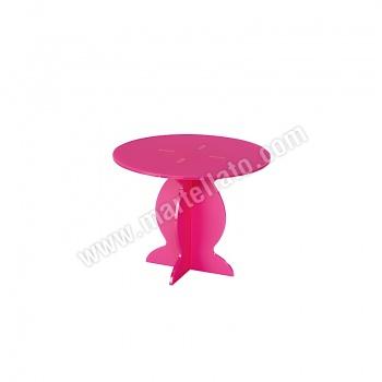 Polycarbonate Cake Display - Fuschia Pink - ø 210 h 163 mm