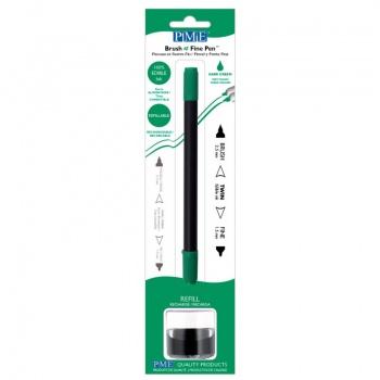 PME Brush & Fine Refillable Edible Pen with 8g Refill Jar - Dark Green