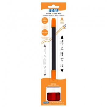 PME Brush & Fine Refillable Edible Pen with 8g Refill Jar - Orange