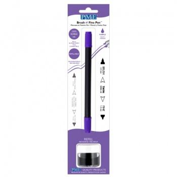 PME Brush & Fine Refillable Edible Pen with 8g Refill Jar - Purple