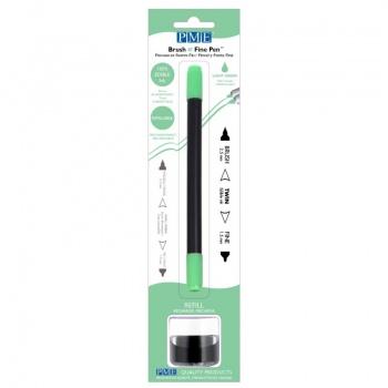 PME Brush & Fine Refillable Edible Pen with 8g Refill Jar - Light Green
