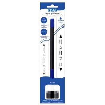 PME Brush & Fine Refillable Edible Pen with 8g Refill Jar - Royal Blue