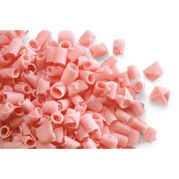 Belgian Chocolate Curls - Blossom Curls Pink -12Lbs