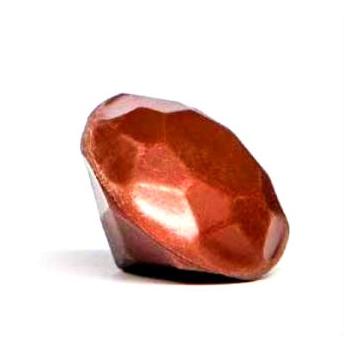 Polycarbonate Chocolate Mold Diamond 3D - top Ø 35x6,50 mm - bottom Ø 35x18 mm - 13 gr - 3x6 cav  - 135x275x24mm
