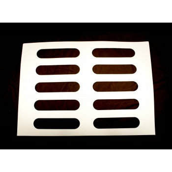 Oval Éclair Rubber Chocolate Chablons Mat for Eclairs - 10 Indents