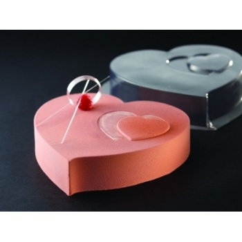 Thermoformed Frozen Cake 3D Molds - Heart - Set of 10 - ø 200 mm h 45 mm - KT13