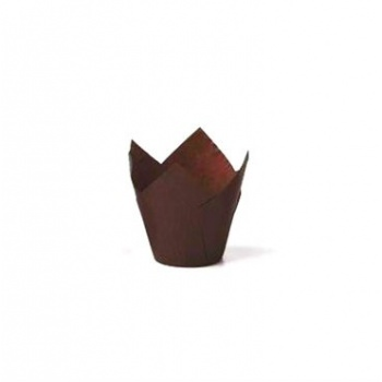 Tulip Disposable Baking Cup Small - Brown- 1.375''x2.25'' - 250 pcs