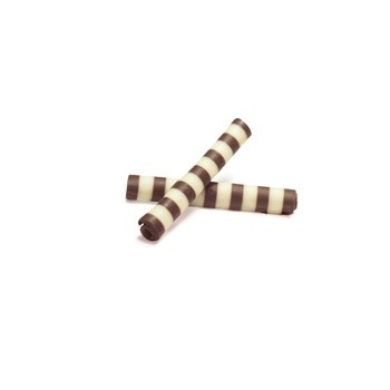 Belgian Chocolate Sticks Twister Dark/White 1.4 -3150 Pces