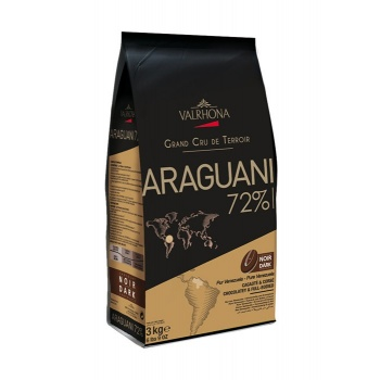 Valrhona Single Origin Grand Cru Chocolate Araguani 72% cocoa 27.5% sugar 44.1% fat content - 3Kg  - Feves