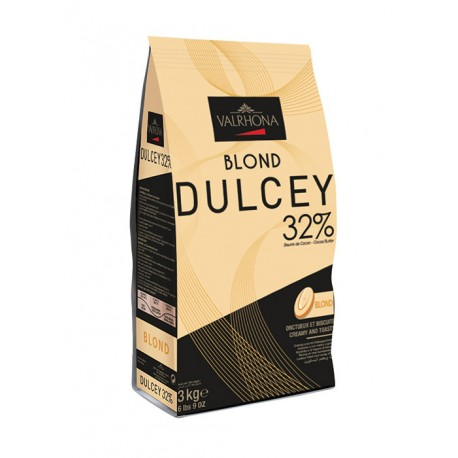 Valrhona Blond Creation Dulcey 32% cocoa 29% sugar 45% fat content 32% whole milk - 3Kg  - Feves
