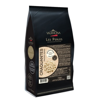 Valrhona  Opalys Crunchy Pearls Toasted Cereal Covered in White Chocolate - 3Kg Bag