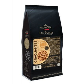 Valrhona  Dulcey Crunchy Pearls Toasted Cereal Covered in Blond Chocolate - 3Kg Bag