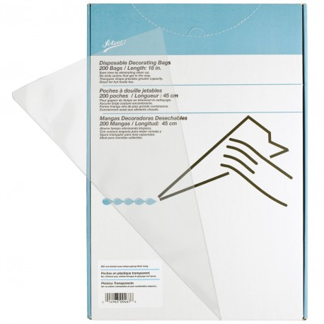 """Ateco 18"""" Clear Disposable Pastry Bags (Box Of 200)"""