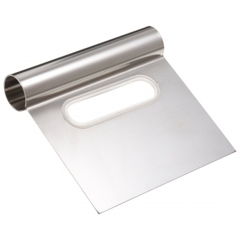Ateco Stainless Steel Bench Scraper 4'' Wide Blade