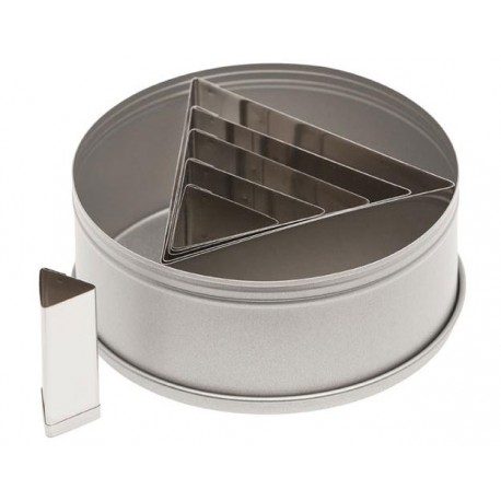 Ateco Triangle Stainless Steel Cookie Cutter Set 6Pc