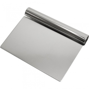 "Dough cutter stainless steel curled handle 4 7/8"" x 6 1/4"""