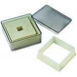 Nylon & Fiberglass Cutter Set, Boxed, Fluted Square, 9 pc set