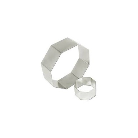 """Pastry Rings Octagon Stainless Steel 9"""" x 2"""""""