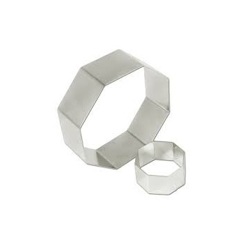 "Pastry Rings Octagon Stainless Steel 10"" x 2"""