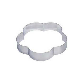 "Pastry Rings Petal Stainless Steel 10"" x 2"""