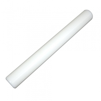 "Solid Core Polyethylene Rolling Pin Rod, 7 1/2"" x 1 1/2"" diameter"