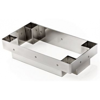 "Matfer Bourgeat Mozaic Rectangular Tart Cutter 6 1/2"" X 3"""