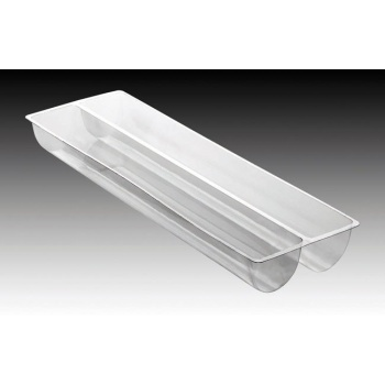 "Matfer Bourgeat PVC Thermoformed Log Cake Mold 22 1/2"" - Trapeze Shape - Box of 10"