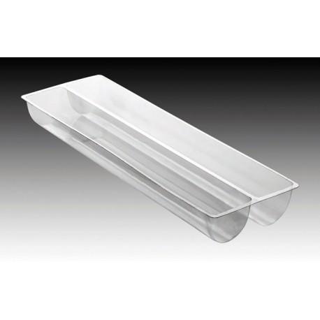"""Matfer Bourgeat PVC Thermoformed Log Cake Mold 22 1/2"""" - Trapeze Shape - Box of 10"""