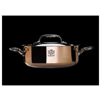 De Buyer Sauté-pan Copper Stainless Steel PRIMA MATERA with lid ø11'' - 5.2qt