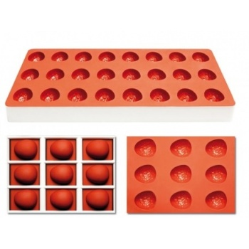 Pavoni Silicone Candy Mold 24 Cavity - Strawberry - TG1012