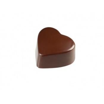 Chocolate Polycarbonate Mold Heart 25 x 28 x15mm - 8gr - - 24 Cavity - SP1214
