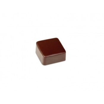 Polycarbonate Chocolate Molds - Artisanal Square smooth. 26x26x13 h mm. 21 pralines. 10 gr ca. Mould 275x135 mm