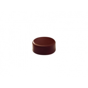 Polycarbonate Chocolate Molds - Artisanal  Round smooth. ø 28 mm h 14 mm. 21 pralines. 10 gr ca. Mould 275x135 mm