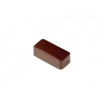 Polycarbonate Chocolate Molds - Artisanal Rectangular smooth. 37x16x14 h mm. 21 pralines. 10 gr ca. Mould 275x135 mmooth.