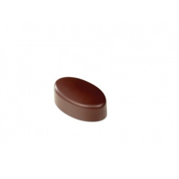 Polycarbonate Chocolate Molds - Artisanal Oval smooth. 37x21x14 h mm. 21 pralines. 10 gr ca. Mould 275x135 mm