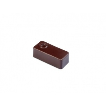 Polycarbonate Chocolate Molds - Artisanal  Rectangular dot. 37x16x14 h mm. 21 pralines. 10 gr ca. Mould 275x135 mm