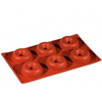 Formaflex Silicone Mold -  Round Savarin-6 Cavity
