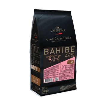 Valrhona Single Origin Grand Cru Chocolate Bahibé Milk 46% cocoa 30% sugar 43% fat content - 3Kg.  - Feves