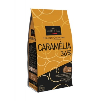 Valrhona Gourmet Chocolate Caramélia 36% cocoa 34% sugar 38% fat content 20% whole milk - 3Kg - Feves