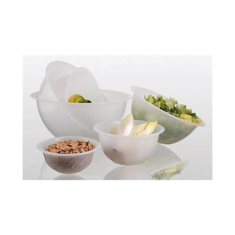 Matfer Bourgeat White Polypropylene Hemispherical Bowl 11'' - 4.5 Liters