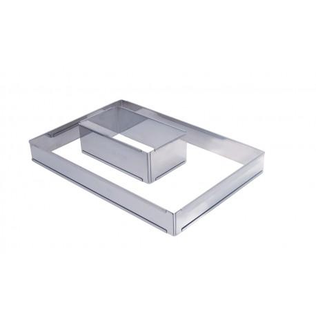 De Buyer 3014.2 De Buyer Stainless Steel Adjustable Pastry Frame - ...